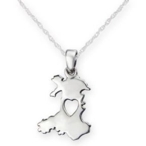 From The Heart Of Wales Silver Pendant 9822